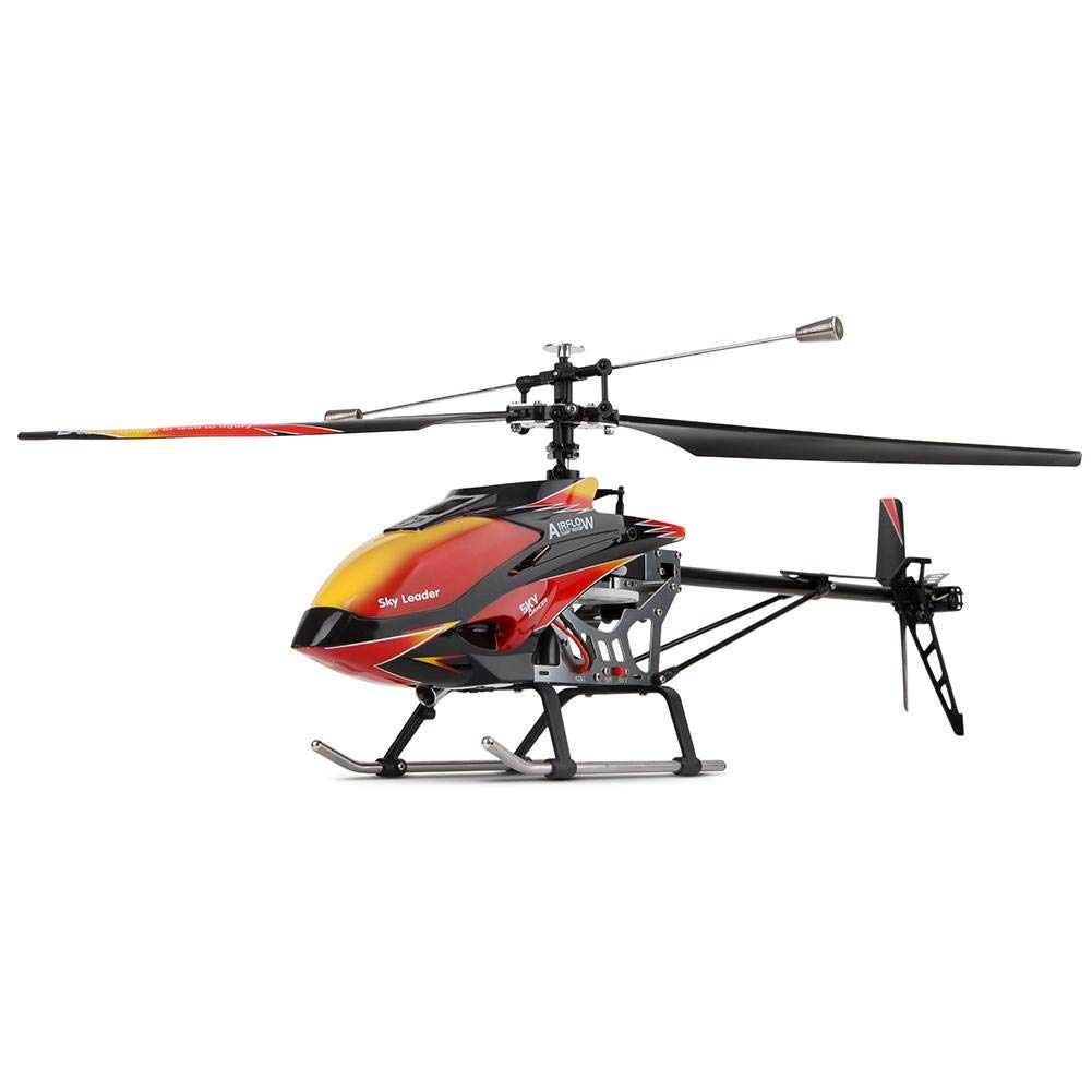 Betfandeful Remote Control Helicopter, WLtoys V913 Remote Control Aircraft Model, Single Paddle Helicopter with Gyro Navigation