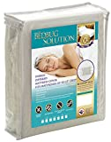 The Allergy Store Bed Bug Solution Hybrid Stretch Zippered Waterproof Mattress Cover, 15'' Deep, Full, White