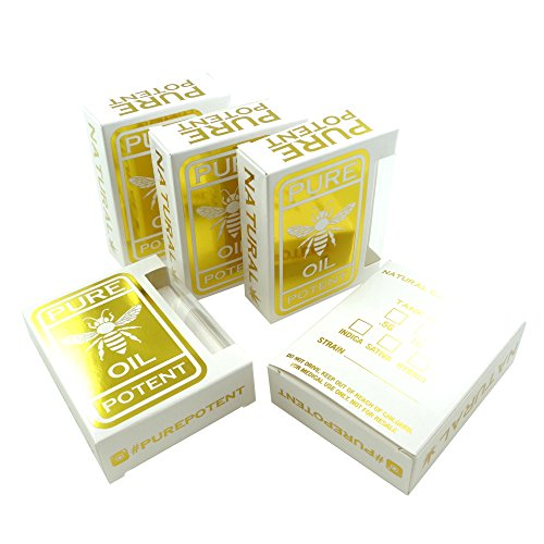Empty Pure Potent Retail Ready Flip Top Packaging Display Boxes by Shatter Labels VB-107 25