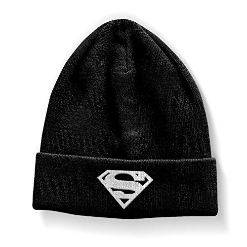 Superman Beanie Hat Shield Official Black]()