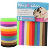 WhelpIDcollars - Puppy ID Bands - 12 Colors | Made from VELCROÂ Brand fastener | Standard Size 13.4 in