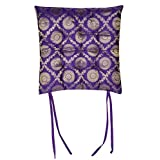 Square Dining Chair Cushions Pad Purple 15 x 15 Inches