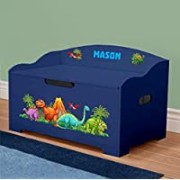 DIBSIES Personalization Station Personalized Dibsies Modern Expressions Dinosaurs Toy Box (Blue Dinosaur Theme)