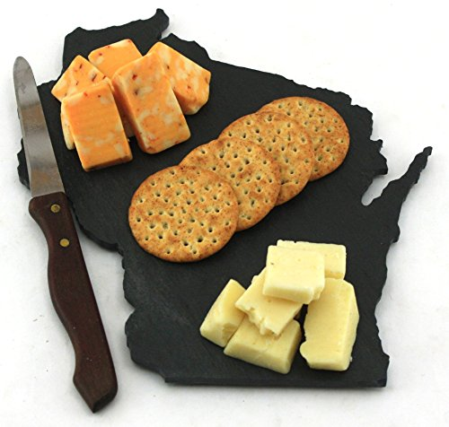 Custom Wisconsin Slate Cutting Board, Serving Tray, or Cheese Board- Personalized with Laser Engraving