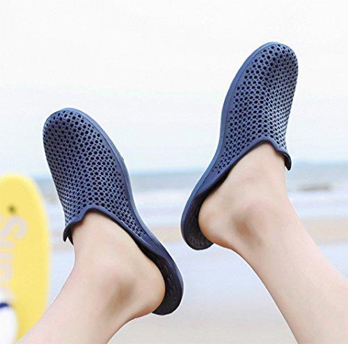 DADAWEN Men's Garden Beach Yard Mule EVA Clog Shoe Blue ztaSaIOc