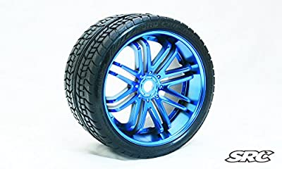 SRC Road Crusher (Belted) 17mm hex Blue Chrome (PAIR)