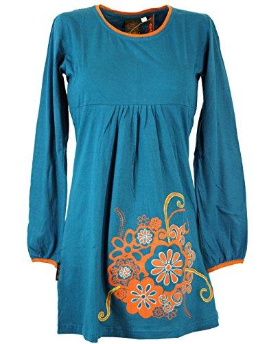 Hippie de boho Mini vestido Chic vestidos cortos/colour azul Azul