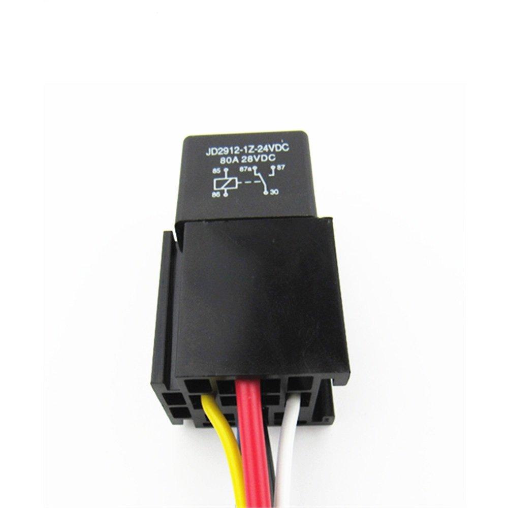 Amazon.com: Shenlang Car 5-Pin Relay Socket Plug Harness Wiring Wire ...