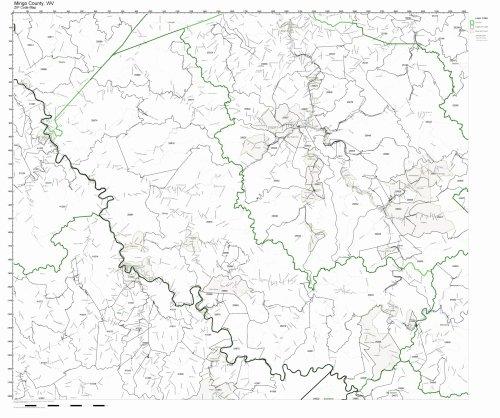West Virginia Zip Code Map - Mingo County, West Virginia WV ZIP Code Map Not Laminated