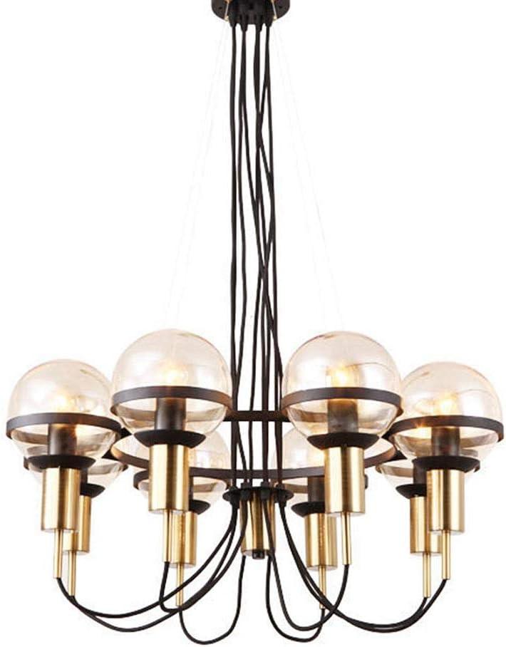 123 スタディルームオフィスクリエイティブクリエイティブ装飾用ヴィンテージ天井ペンダントライト工業用メタルゴールドブラックガラス 456 (Color : B)