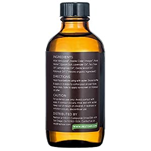 Organic Face Toner-Apple Cider Vinegar Natural Acne Treatment - Clear Blemishes, Unclog Pores, Reduce Redness - Facial Cleanser & Moisturizer - pH Balance Dry, Oily & Combination Skin-4oz RESTOAR 3PK