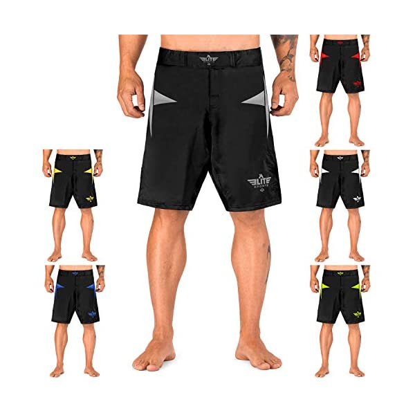 Elite Sports Star Series Fight Shorts - UFC, MMA, BJJ, Muay Thai, WOD, No-GI, Kickboxing, Boxing Shorts 1