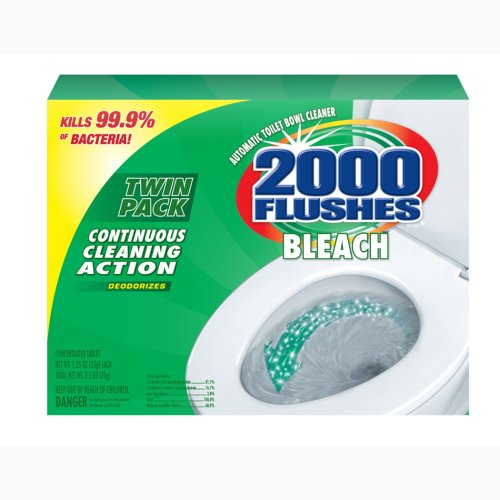 2000 Flushes Chlorine Bleach Automatic Toilet Bowl Cleaner, 35g [Twin-Pack] (Pack of 6)