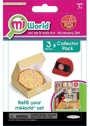 Jakks Pacific MiWorld Italia Pizza Shop Set #1 Collector Pack