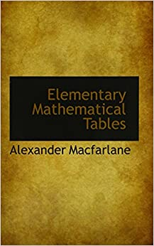 Book Elementary Mathematical Tables
