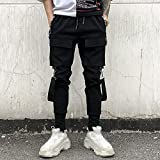 MOKEWEN Men's Multi Pocket Street Punk Hip Hop
