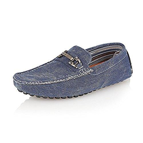 Brit Man Designer Inspired Men's Casual Slip-On Moccasins Loafers Shoes {Blue,Uk-11//Eu-45}