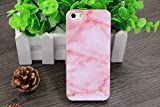 Iphone SE Case, Iphone 5 Case, Iphone 5s Case, IiEXCEL Marble Pattern Pink Cobble Soft Flexible TPU Slim Fit Cover Case for Iphone 5 / 5s / SE (Color 13)