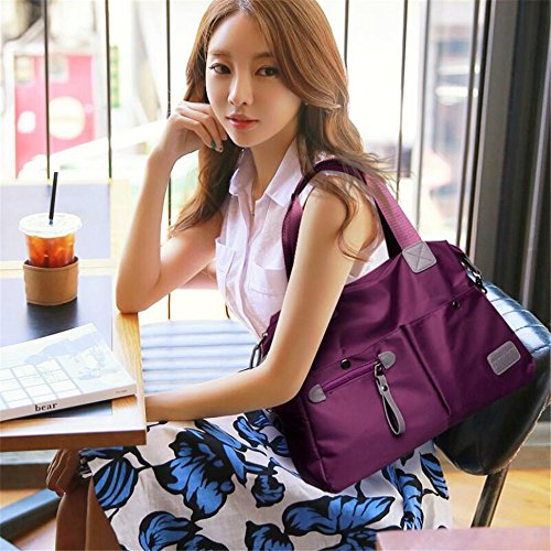 Puretime - Bolso mochila para mujer azul azul marino morado