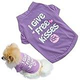 Binmer(TM) Pet Dog Clothes Cat Puppy Pet Puppy Spring Summer Shirt Small Pet Clothes Vest T Shirt (S, Purple)