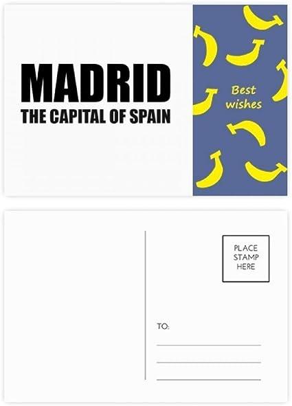 Juego de 20 tarjetas postales de la capital de España de Madrid: Amazon.es: Oficina y papelería