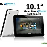 Shamo's New 10.1 Inch Google Android 4.4 Kitkat Tablet Pc 16gb ROM Quad Core 10 Inch 1gb RAM Hdmi Two Cameras Quad Core Supports Micro Sd Memory Card [By Shamo's]