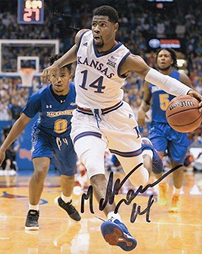 Autographed Malik Newman Photograph - KANSAS JAYHAWKS Basketball NBA 8X10 W COA #2 - Autographed College Photos
