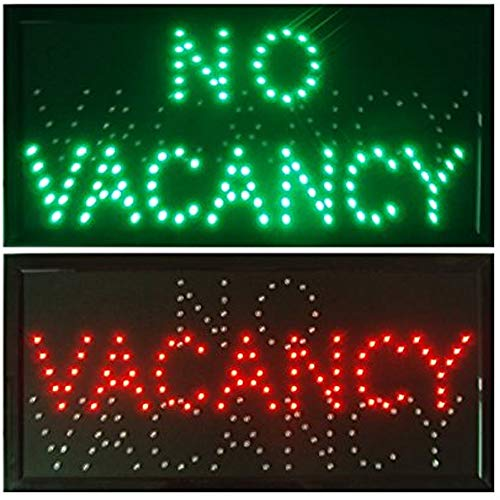 CHENXI VACANCY/NO VACANCY hotel motel LED store Open Sign neon Light room vacant Switch chain 48 X 25 CM (48 X 25 CM, green+red) (No Vacancy The Best Of The Motels)