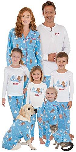 PajamaGram Flannel Gingerbread Fun Matching Family Pajama Set, 5, Multicoloured (Sexy Ginger)