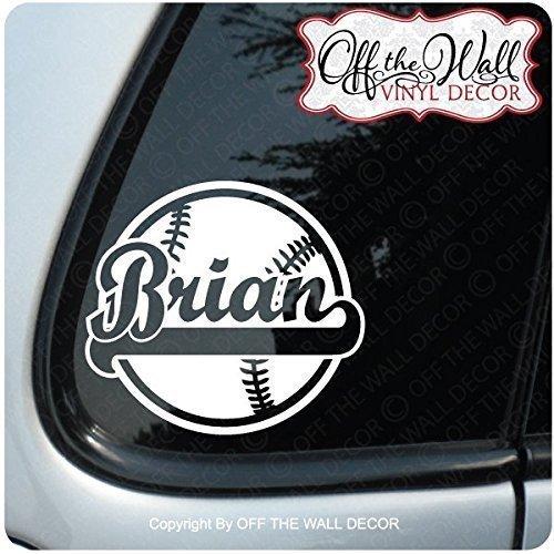 "Baseball ""PERSONALIZED"" FOR: Cars / Trucks / Vehicle Vinyl D"