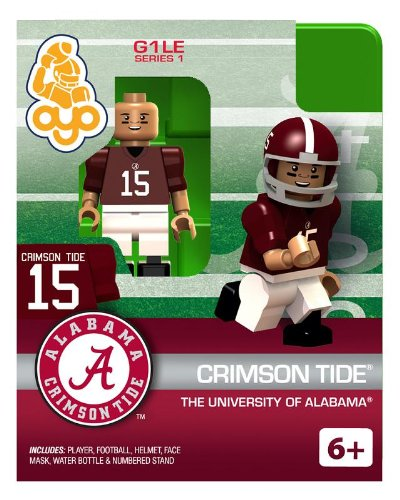 University of Alabama Crimson Tide #15 College Football Oyo Mini Figure NCAA Licensed