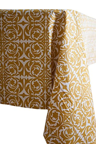 Garden Gate Ochre 60 Square topper Tablecloth