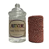 Bosmere K846 Nutscene Candy Twist Cotton Bakers Twine, Red and White