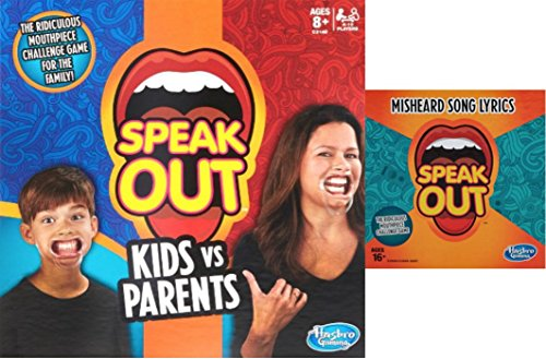 Speak Out Bundle Includes Kids vs. Parents Plus Misheard Song Lyrics Expansion Cards Pack by Multiple by Hasbro