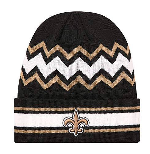 MT-Sports Fans Knit Beanie Caps Hat Football Team Embroidery Logo Winter Fashion Warm Wool Cap Hat Great Gift for Mens Womens (New Orleans Saints)