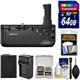 Sony VG-C2EM Vertical Battery Grip for Alpha A7 II, A7R II & A7S II Camera with 64GB Card + Battery & Charger + Accessory Kit