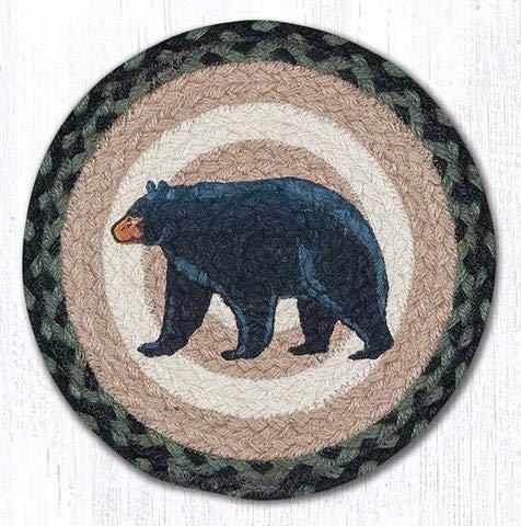 Braided Round Trivets - MSPR-116 Mama & Baby Bear Printed Round Trivet 10