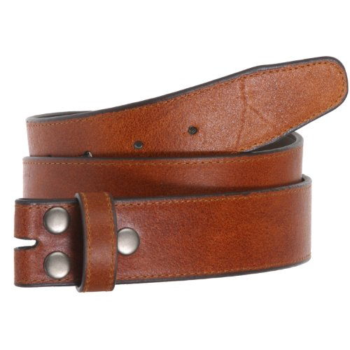 40mm Snap Stitching Edged Leather Strap
