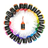 Arts & Crafts : Arrtx-24 Assorted Colors 3D Fabric Paint for Fabric,Canvas,Wood,Ceramic,Glass with a Fine-point Tip for Precise Application-Non Toxic Permanent Value Pack