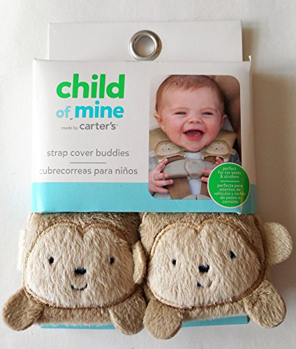 Amazon Carters Light Brown Taupe MONKEY Strap Cover Buddies Baby