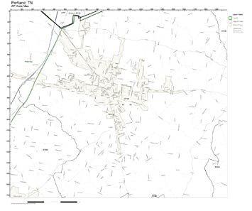 Amazon.com: ZIP Code Wall Map of Portland, TN ZIP Code Map Laminated ...