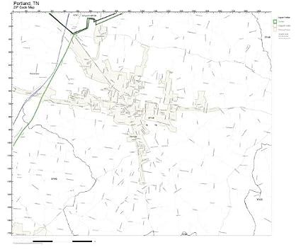 Amazon.com: ZIP Code Wall Map of Portland, TN ZIP Code Map