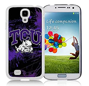 Samsung Galaxy S4 NCAA Big 12 Conference Big12 Football TCU Horned Frogs 1 White Screen Cellphone Case Unique and Genuine Design