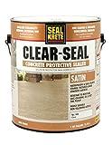 concrete painted floors Seal-Krete 604001 Clear-Seal Satin Concrete Protective Sealer, Gallon, Clear