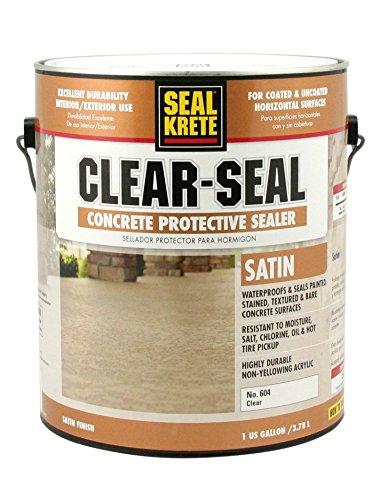 Seal-Krete 604001 Clear-Seal Satin Concrete Protective Sealer, Gallon, Clear (Paint Patio Concrete Designs)