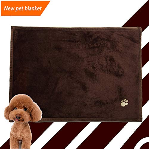 Newest Pet blankets,dog blankets warm Dog Cat Soft and Fluffy Premium Flannel Fleece Dog Throw Blanket,pet blanket for couch/pet blanket bed/pet blanket car For Small and Medium Size Pets (brown)