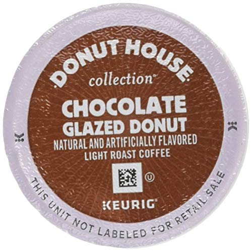 Donut House Collection Coffee Chocolate Glazed Donut Keurig Single-Serve K-Cup Pods, Light Roast Coffee, 24 Count from Donut House Collection