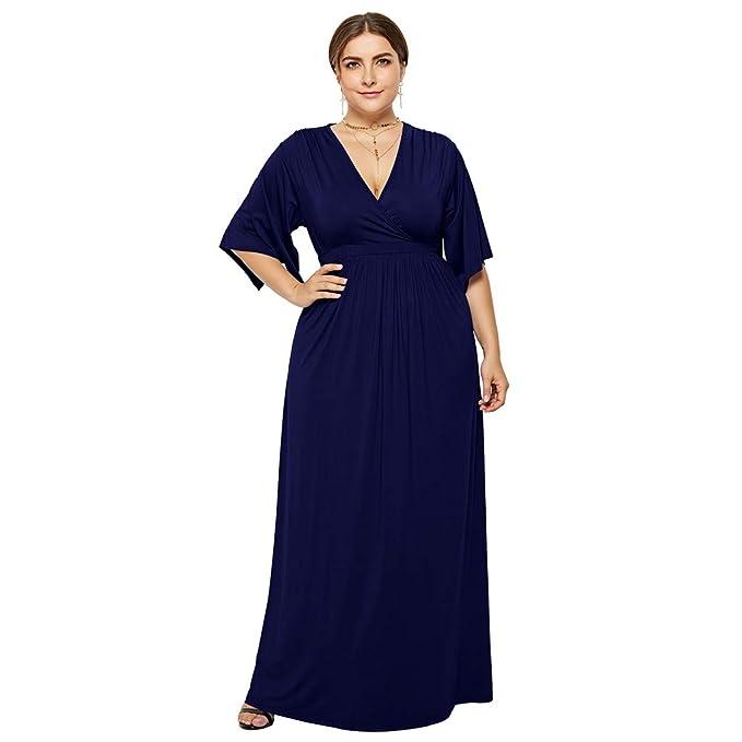 a1c9075837 ZARLLE Vestidos De Fiesta Mujer Larga Elegantes Tallas Grandes Falda del  Estiramiento del Vestido de Cintura