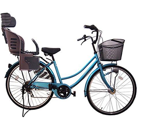 Lupinusルピナス 自転車 26インチ LP-266UA-KNRJ-BR 軽快車 シマノ外装6段ギア オートライト 樹脂製後子乗せブラウン B073LQ71RK ライトブルー ライトブルー