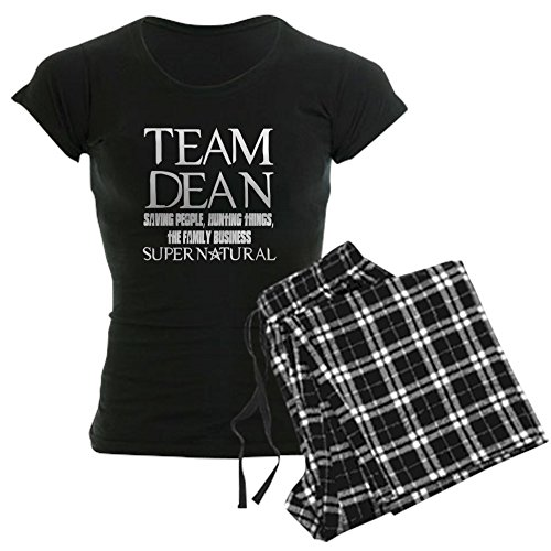 CafePress - Team Dean Supernatural Winchester Women's Dark Paj - Womens Novelty Cotton Pajama Set, Comfortable PJ Sleepwear - Supernatural Womens Pajamas